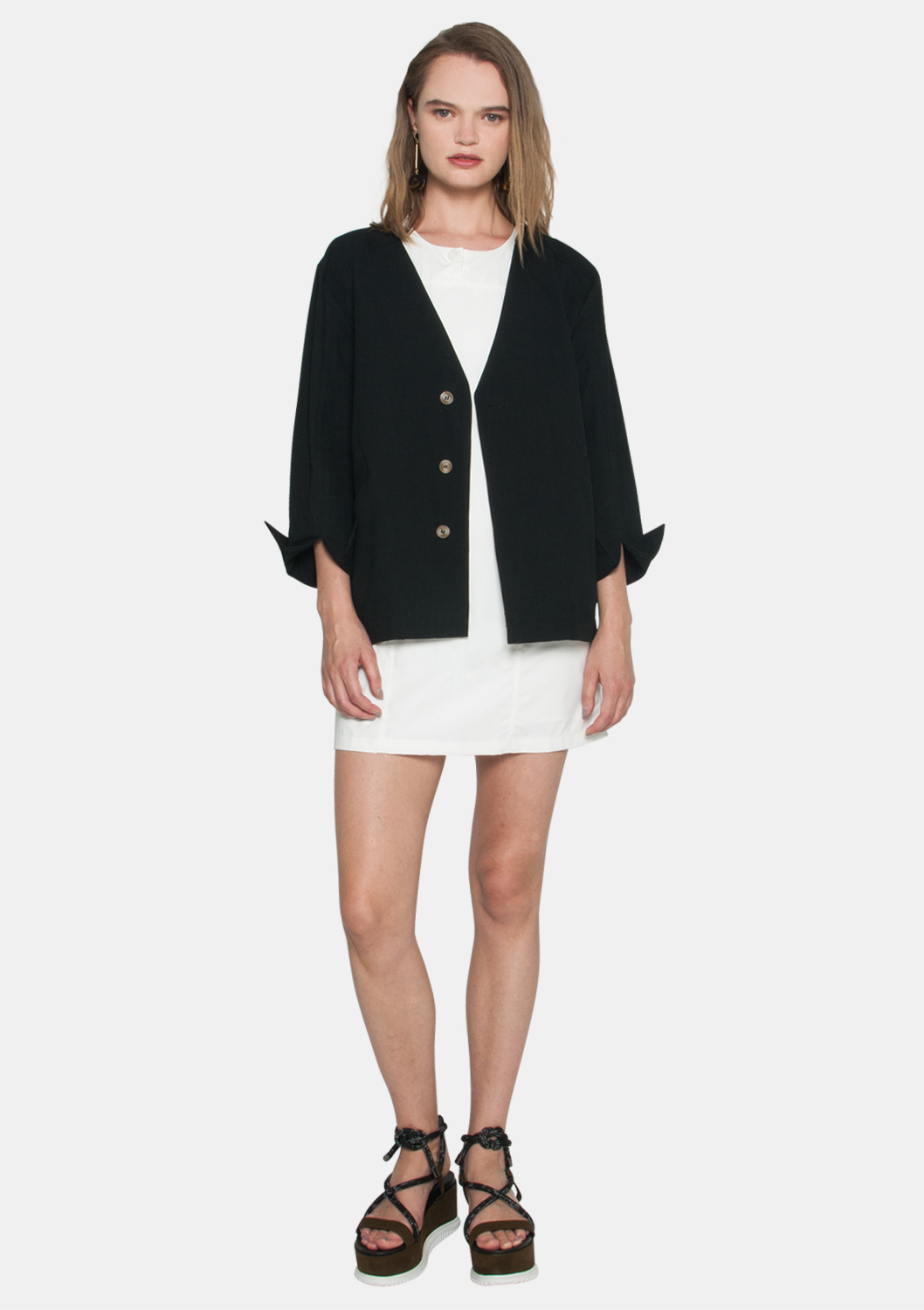 a3a317375f Oversized Buttoned Jacket - ELLYSAGE