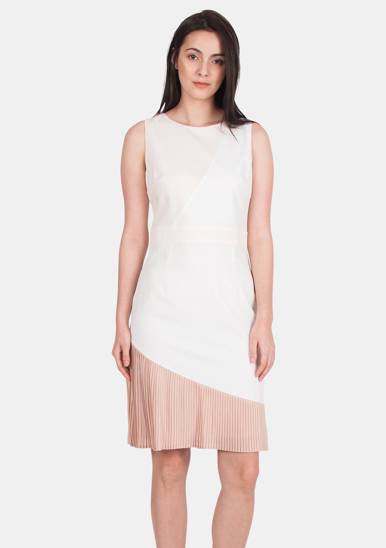 11b62d36e7 Curved Pleat Pencil Dress - ELLYSAGE
